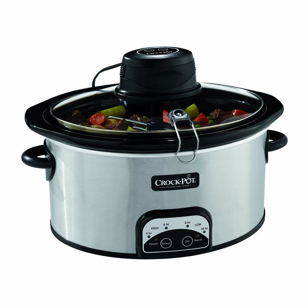 Crock-Pot 6.5 Qt Istir Auto-Stirring Slow Cooker, Stainless Steel SCCPVP650BS-033