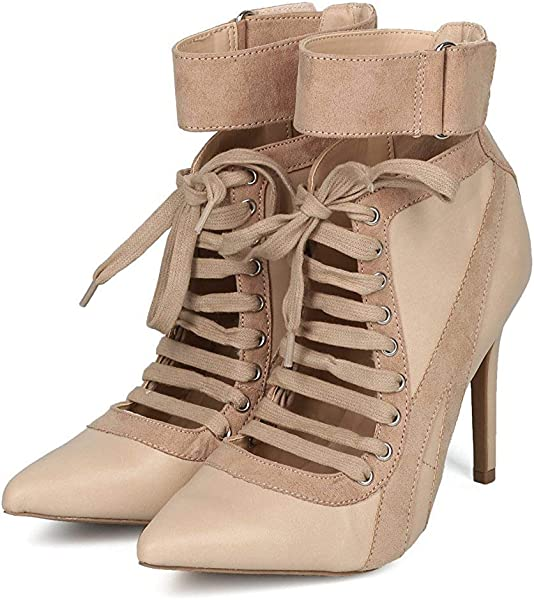 ec1a3742a1f Wild Diva Lace up High Heel Sneaker Above Ankle Bootie
