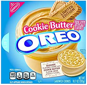 Oreo Limited Edition Cookie Butter Sandwich Cookies, 10.7 oz