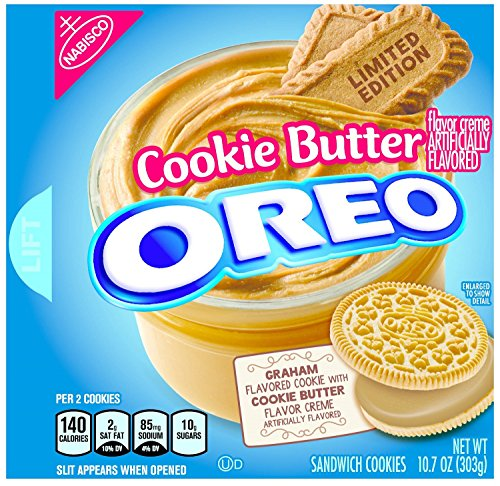 Oreo Limited Edition Cookie Butter Sandwich Cookies, 10.7 oz (303g)