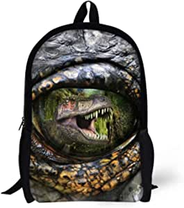 Allcute Kids School Backpack Large Durable Elementary Preschool Book Bags for Boys Girls Dinosaur Print