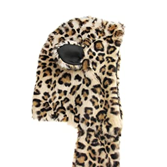 e668bd6a6ef Chapeau Unisex Automne Hiver Bonnet-Echarpe-Gants Chaud Thermique en Fausse  Fourrure Hat Animal Mignon Long Cap Dames Sports de plein air Moufles Ski  ...