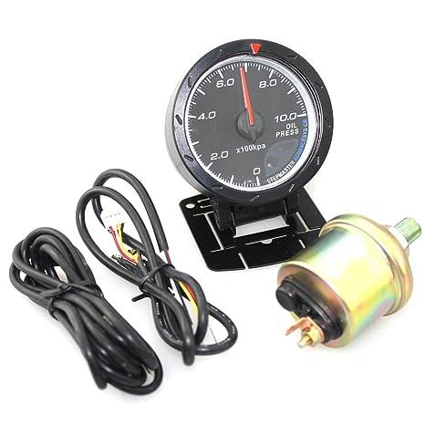Amazon com: WINOMO Car Oil Press Meter Auto Oil Pressure