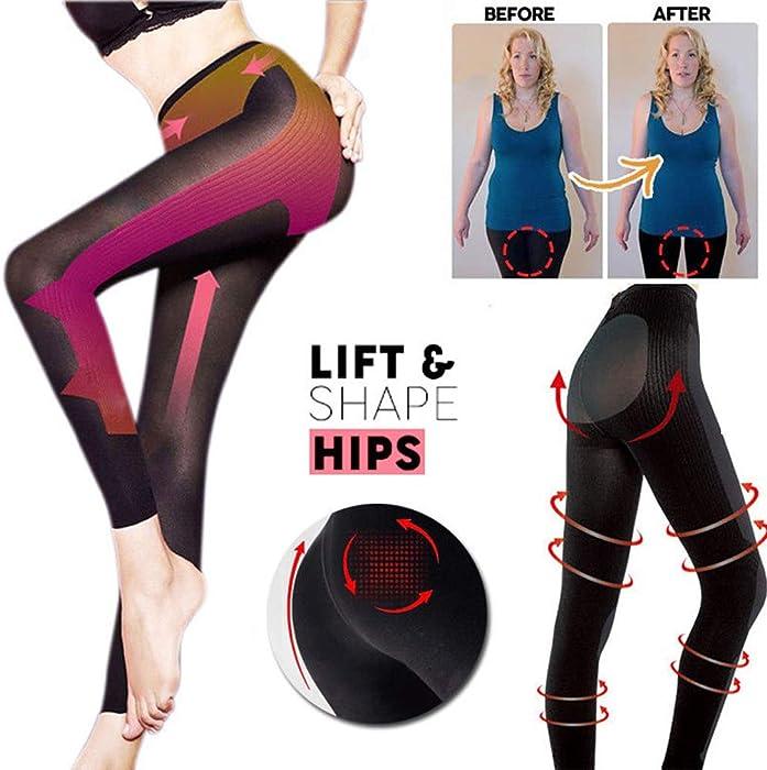 1f618fd67c 2019 Colorcasa Sculpting Sleep Leg Shaper New Sexy Pants Legging Socks Women  Body Shaper (M
