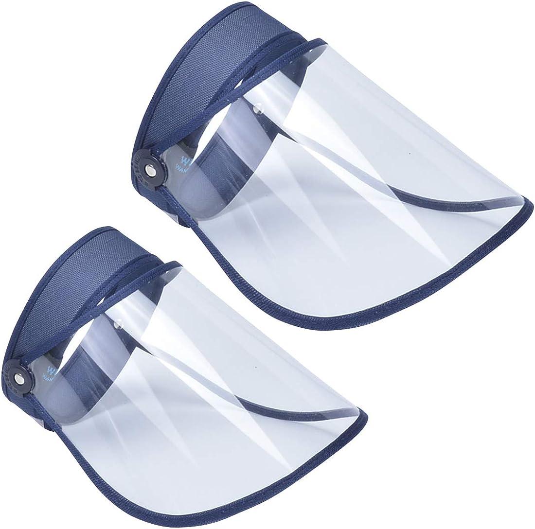 Panegy - Visera Protectora Transparente Prueba de Sapicaduras Escudo de Protección de Cara Antivaho Ajustable Protector Facial Completa para Hombre Mujer
