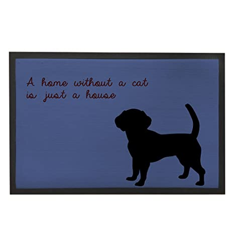 blue dog pattern doormats with sayings rustic decor kitchen rugs funny welcome mats 236x15 - Blue Dog Kitchen
