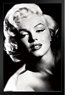 Pyramid America Marilyn Monroe Glamour Hollywood Celebrity Actress Model Icon Black White Photograph Photo Framed Poster