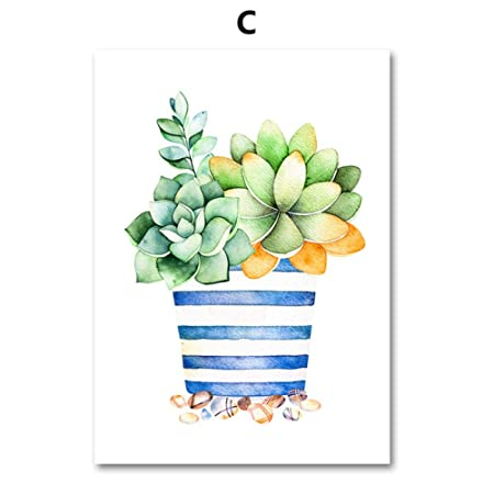 LiMengQi Cactus suculentas Plantas Lienzo Pintura Cartel ...