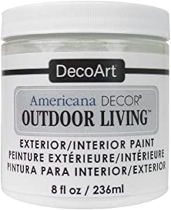 DecoArt PicketFence Americana Outdoor Living 8oz Picket Fence, White