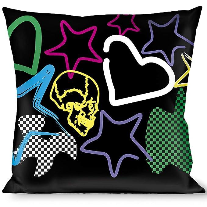 Amazon.com: Manta BUCKLE-DOWN pillow-sketch estrella/corazón ...
