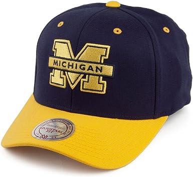 Gorra Team Logo Michigan Wolverines Mitchell & Ness-Azul-Amarillo ...