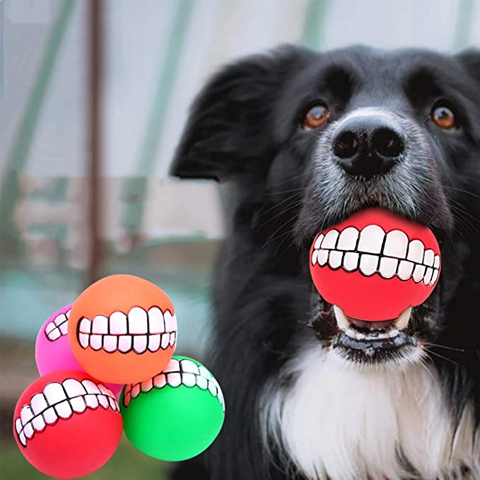 Petpäl Dog Ball With Dental Care function Stud Dog Toy from naturkautsch