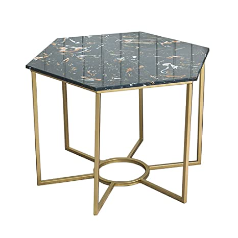 Amazon.com: Mesa auxiliar de mármol natural, mesa auxiliar ...