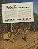 Planting time for Television Caterpillar Diesel Crawler Tractor ad 1946 Canada