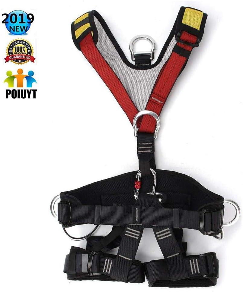 登山用ハーネス屋外救助用ロッククライミング座っているバストベルト安全シート懸垂用ハーネスフルボディレスキュー登山用ベルト