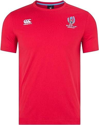 Canterbury Oficial de La Rugby World Cup 2019 Camiseta de algodón Hombre: Amazon.es: Ropa y accesorios