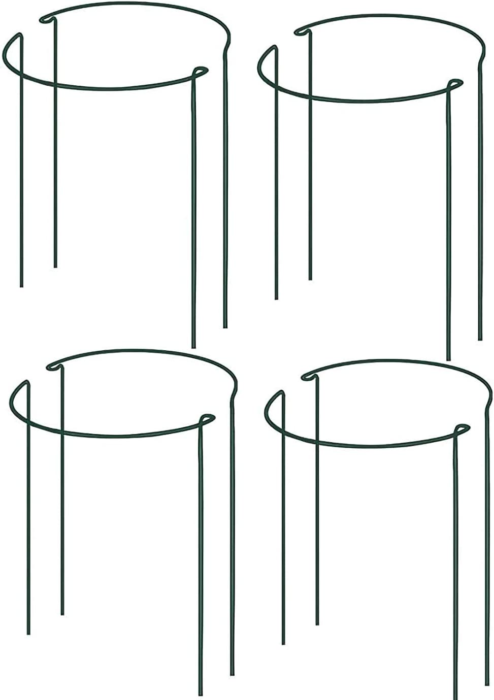 IPSXP Plant Support Stake, 8-Pack Half Round Metal Garden Plant Supports, Green Garden Plant Support Ring, Garden Border Supports, Plant Support Ring Cage for Tomato, Roses, Hydrangea, Flowers Vine