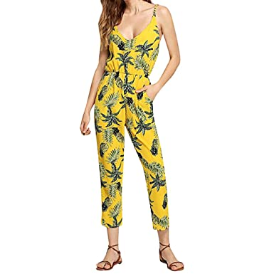 bd9ccc162294 Amazon.com  TIMEMEANS Womens Jumpsuit Sexy Backless Off Shoulder V Neck  Sleeveless Rompers  Clothing
