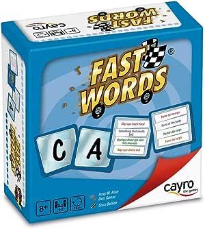 Cayro - Fast Words - Juego de Palabras - Juego de Mesa - Desarrollo de Habilidades cognitivas e lingüísticas- Juego de Mesa (7004): Amazon.es: Juguetes y juegos