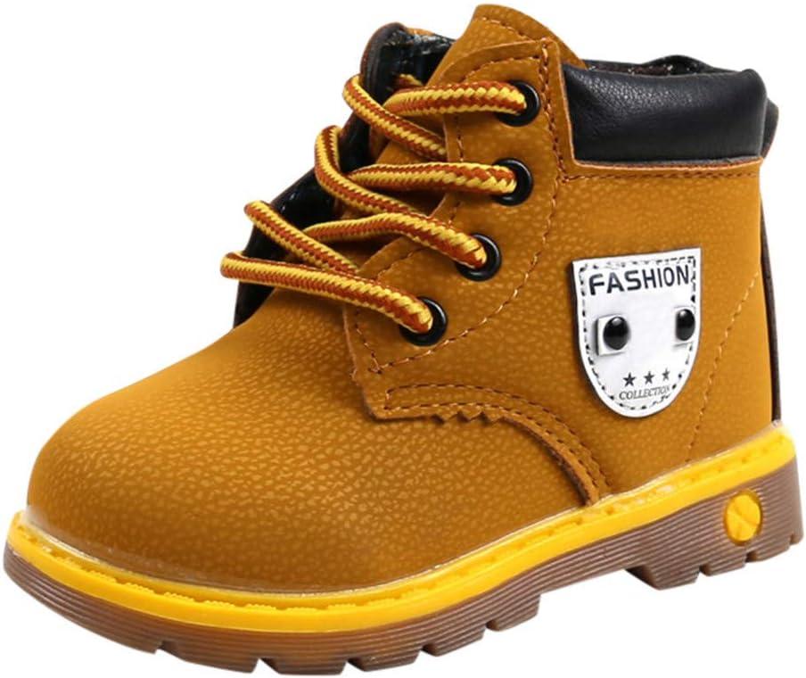 Zapatos De Bebé,ZARLLE Botas NiñO Invierno Botas De Sneaker Patucos Zapatillas Calientes De Bebé Zapatillas Deportivas para BebéS NiñOs PequeñOs Botas Deportivas Unisex De Cuero Atado: Amazon.es: Ropa y accesorios