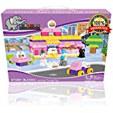 Ele Toys Duplo Compatible Kids Interlocking Building Block Sets from Fun & Educational - Each Set Includes a Unique Story - Sara Visits the Farm