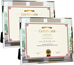Sweepstakes - Picture Frames 8.5x11 Glass 2pcs Document...