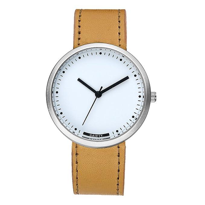 SamMoSon Relojes Hombre Resistentes Al Agua Mujer Azul Elegantes,Moda Hombre Cuero Analógico Cuarzo Deporte Reloj De Pulsera Café: Amazon.es: Ropa y ...