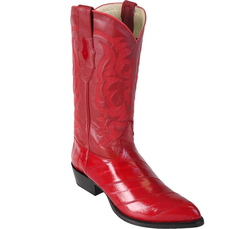 Genuine EEL SKIN RED J-TOE Los Altos Men's Western Cowboy Boot 990812