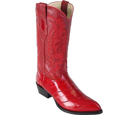 Genuine EEL SKIN RED JTOE Los Altos Mens Western Cowboy Boot 990812  B01LXTQCRU