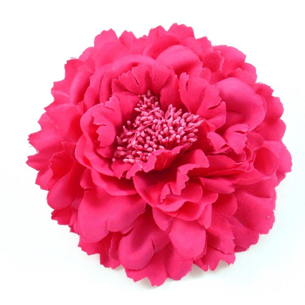 rougecaramel–Accesorios para el cabello,broche/pinza de flor, para boda, 11cm, colorfucsia broche/pinza de flor 11cm colorfucsia