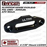 """Ranger ATV Aluminum Hawse Fairlead For 2000-3500 LBs ATV Winch 4 7/8"""" (124MM) Mount by Ultranger Glossy (Black)"""
