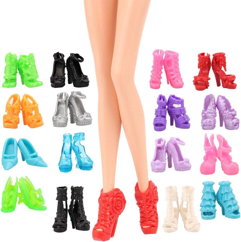 70 Accessoires 10 Chaussures 10 Sacs /à Main 10 Cintres et 40 Accessoires Vari/és pour Poup/ée Fille de 11,5 Pouce FestFUN Fashionistas75 V/êtements /& Accessoires de Poup/ée 5 Robes