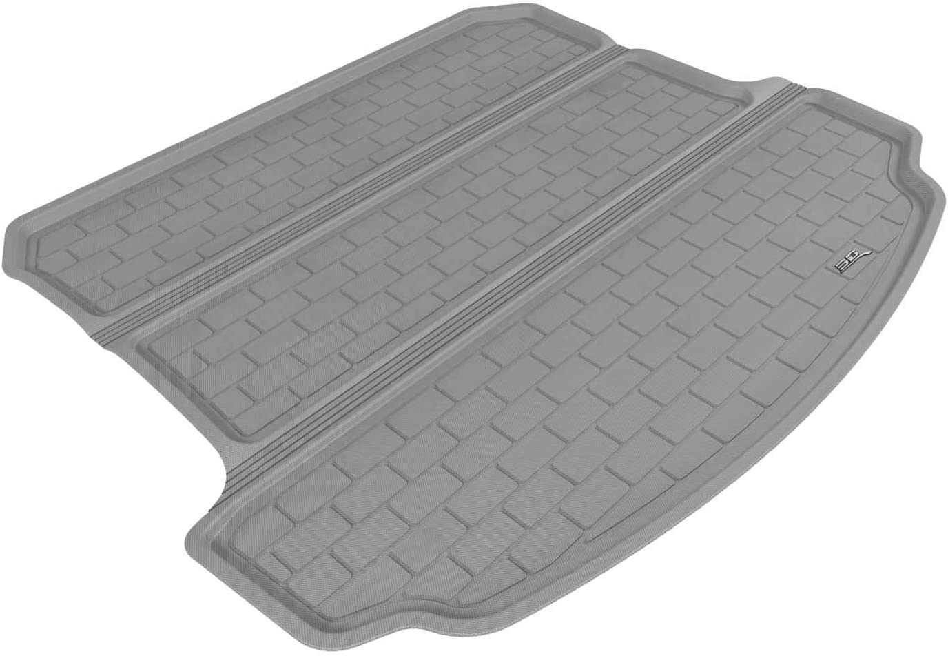 3D MAXpider Cargo Custom Fit All-Weather Floor Mat for Select Acura MDX Models Gray Kagu Rubber