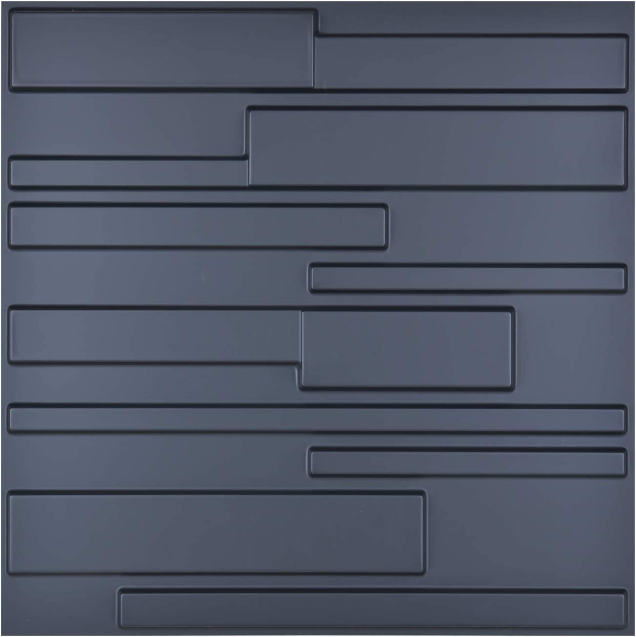 Art3d Matt Black 3D Wall Panel PVC Wall Block Cover 32 Sqft, for Interior Wall Décor in Living Room,Bedroom,Lobby,Office,Shopping Mall