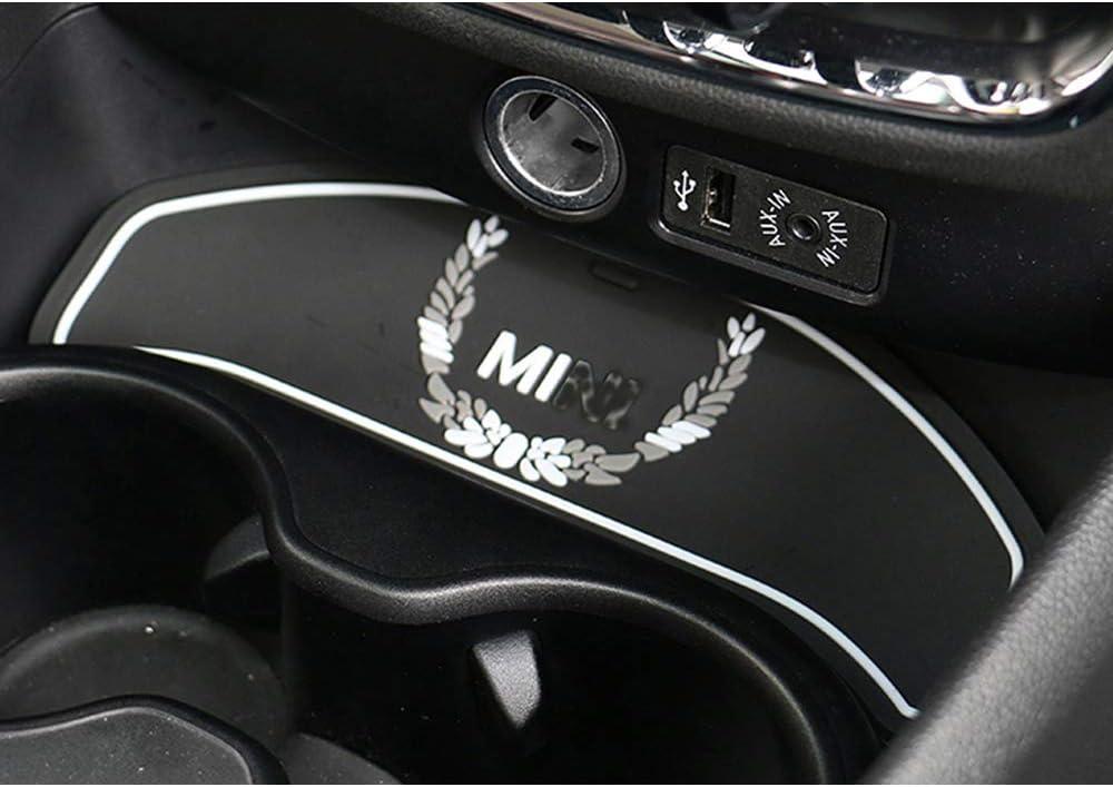 Car Cup Coffee Cushion Storage Coaster Controllo Centrale scanalatura Auto Antiscivolo Mat Pad per Mini Cooper One Clubman F54 Accessori