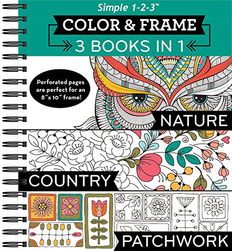 Color & Frame Coloring Book - 3 in 1 - Nature, Country, & - Bella Frames