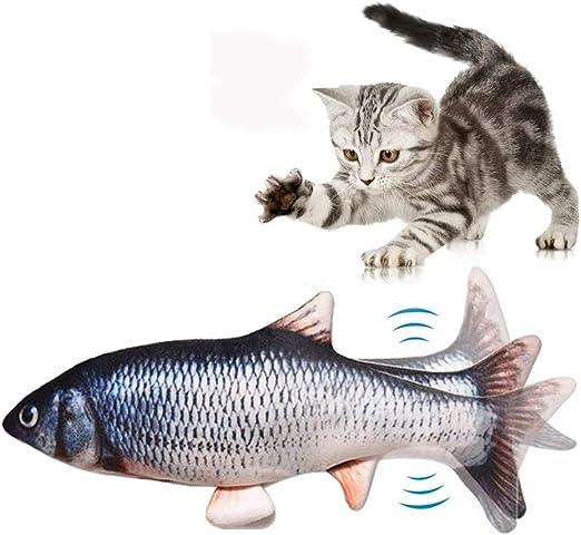 Afaneep Juguete Hierba Gatera, Juguete Gato Pez Interactivo Peluches Pescado Juguete Pez Electrico Automático para Gatos Gatito: Amazon.es: Productos para mascotas