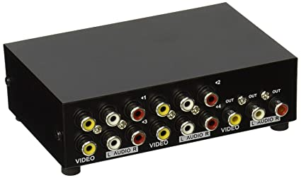 amazon com auvipal 4 way rca switcher 4 in 1 out composite video l4way Video Switch Component #3