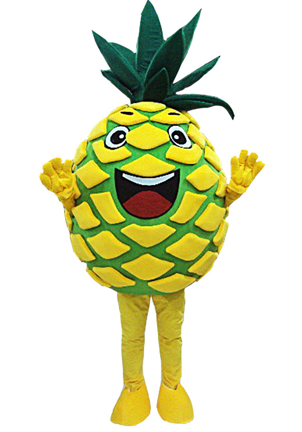 Pineapple Mascot Costume Pineapple Costume Adult Halloween Fancy Dress (Medium)
