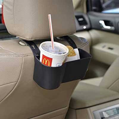 Car Headrest Seat Back Organizer Cup Holder Drink Pocket Food Tray Universal Liberate Your Hands. for a More Convenient Time in Your Car(Black): Automotive
