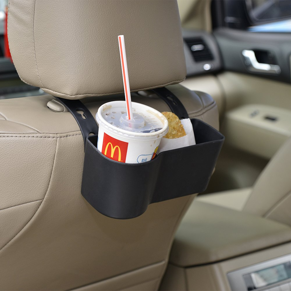 FAGUAN Car Headrest Seat Back Organizer Cup Holder Drink Pocket Food Tray Universal Liberate Your Hands. for a More Convenient Time in Your Car(Black) by FAGUAN