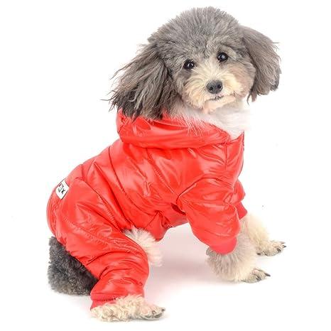 Zunea - Abrigo Impermeable de Invierno para Perro pequeño ...