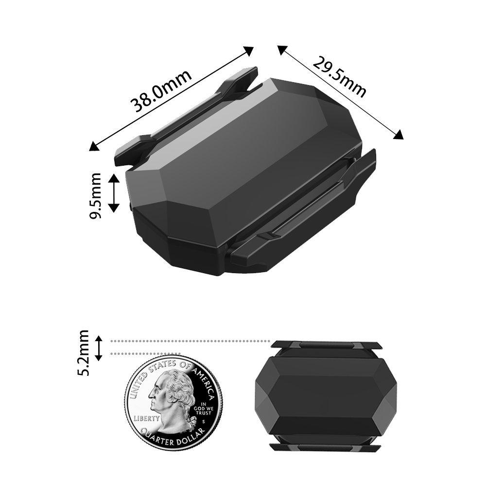 CYCPLUS Bike Speed Sensor and Cadence Sensor Wireless Bluetooth ANT+ for Garmin, Wahoo, Zwift, Sunnto, Tacx, Bkool, PerfPRO Studio, CycleOps, TrainerRoad Magnetless Waterproof 9.2g 300 Days Standby C3 by CYCPLUS (Image #3)