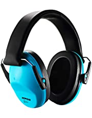 Mpow 068 Kids Earmuffs, 25dB NRR Ear Defenders, Comfortable Kids Safety Ear Muffs, Hearing Protection with Adjustable Headband, for Professional Soundproofing Noise Reduction - Blue