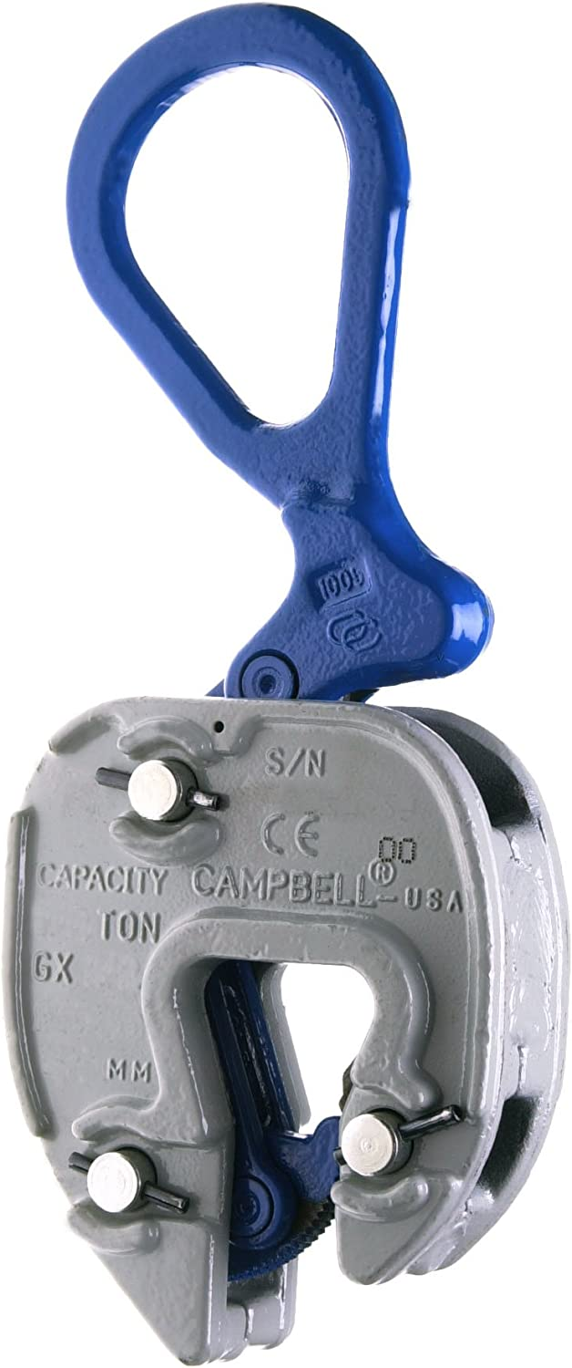 """Campbell 6423010 Vertical and Horizontal to Vertical GX Plate Lifting Clamp, 1/16"""" - 1"""" Grip, 3 ton Working Load Limit: Home Improvement"""