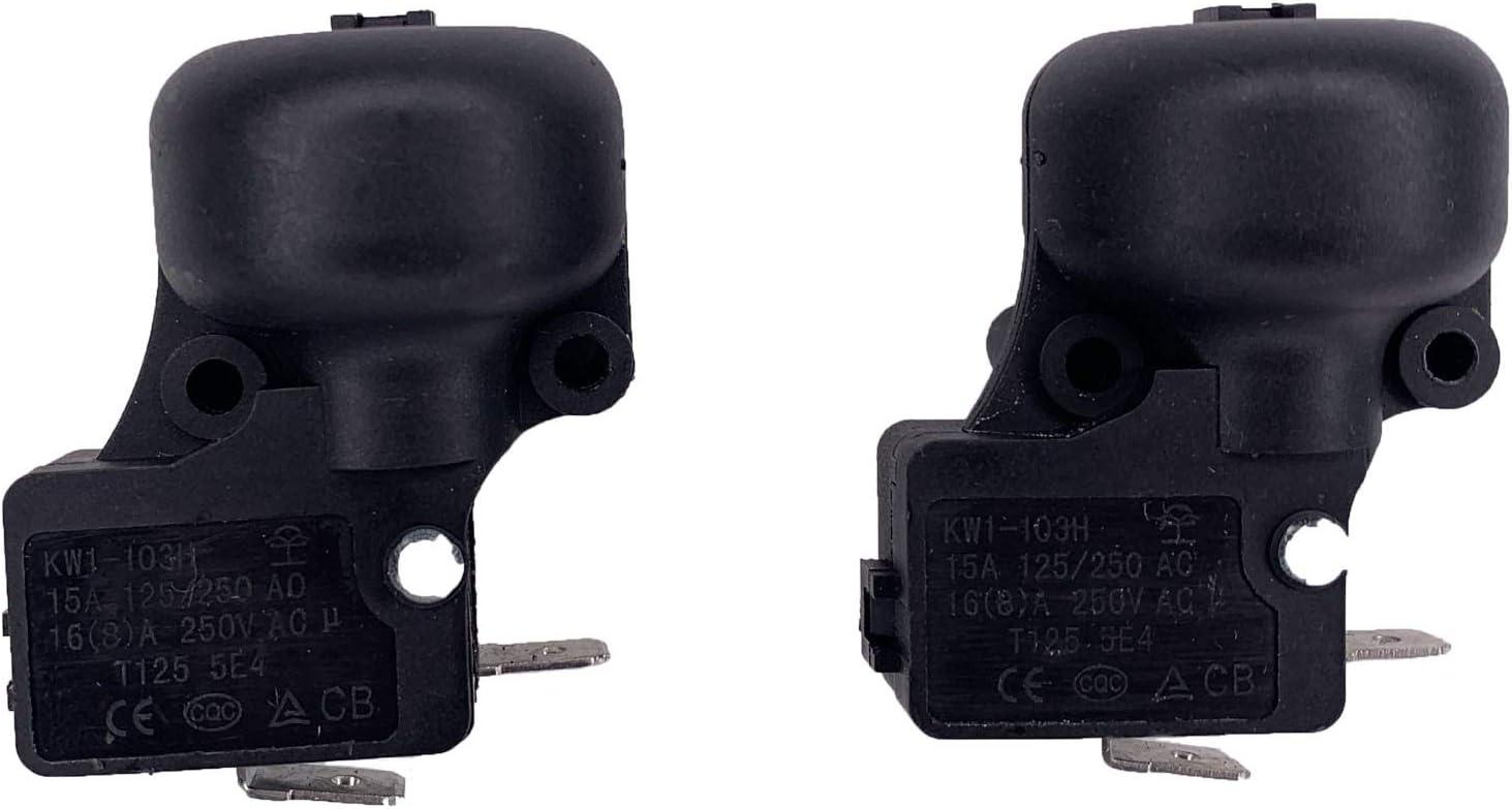 YESTRIY 2 PCS 야외 프로판 가스 파티오 히터 부품 마이크로 안티 틸트 덤프 스위치 250VAC 15A 125VAC 20A T125: 정원 및 야외