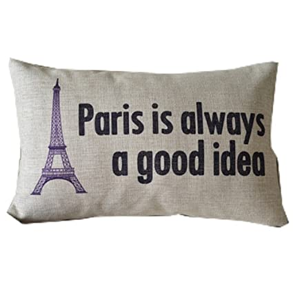 Amazoncom Paris Is Always A Good Idea Eiffel Tower Throw Pillow