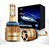 Auxbeam LED headlights F-S3 Series H11 LED Headlight Bulbs with 2 Pcs of h11 Headlights Conversion Kits 72W 8000LM PHILIPS CSP Chips Fog Light - 1 Year Warranty