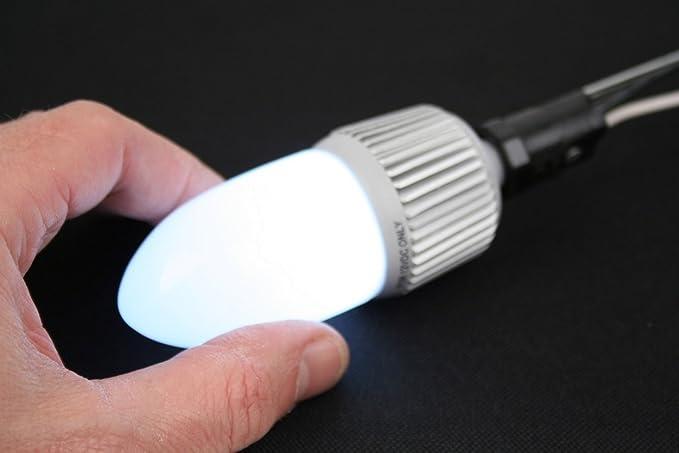 LED Bulb E12 Base, 12 Volt DC 4W LED Candle Bulb - Cool White LED - Marine,  RV, Truck LED