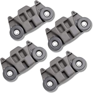 Hosom W10195416 Lower Dishwasher Rack Wheel 4pcs, Compatible with Whirlpool Kitchenaid, Replaces for W10195416V